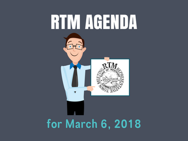 RTM Agenda for March 6, 2018