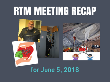 RTM Meeting Recap for June 5, 2018