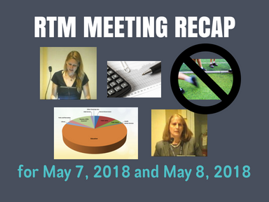 RTM Meeting Recap for May 7, 2018 and May 8, 2018
