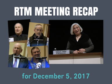 RTM Meeting Recap for December 5, 2017