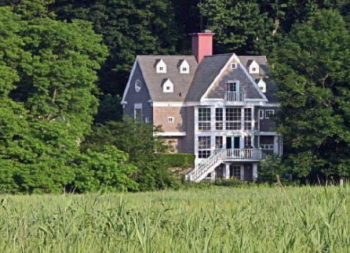 The view of 118 Wilton Road with Taylortown Salt Marsh in the foreground